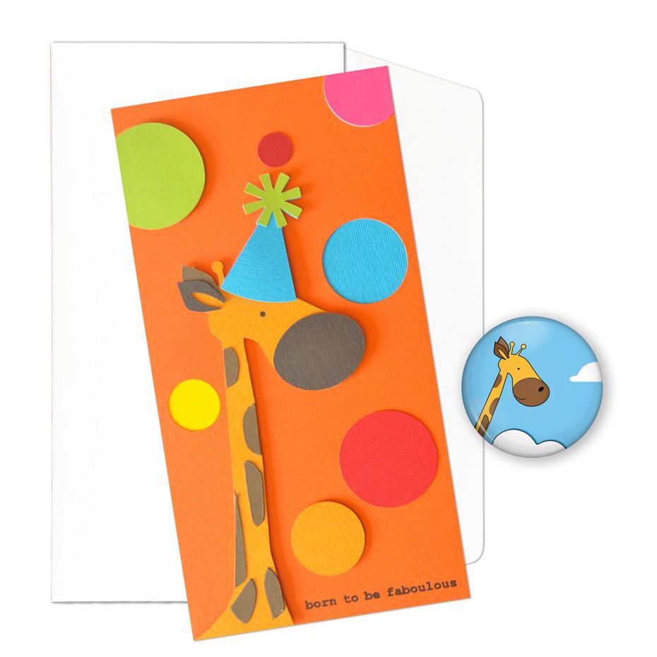 Biglietto artigianale + Magnete stampato per un compleanno favoloso