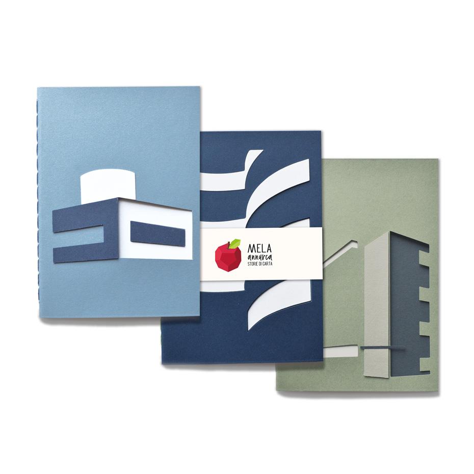 Set da tre sketchbook - amante dell'Architettura inizio '900
